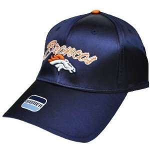 NFL Denver Broncos Satin Navy Blue Orange Ladies Womens