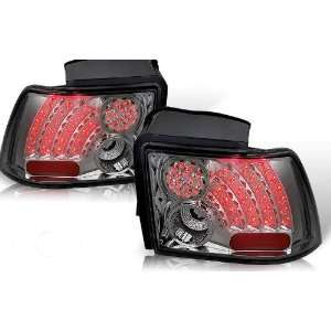 99 04 Ford Mustang Led Tail Light   Chrome/Smoke (Pair