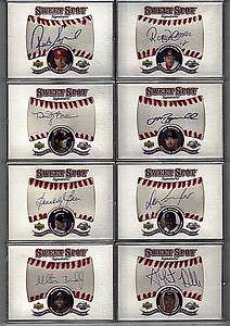 2001 SWEET SPOT GRAND MASTER SET ALL AUTOS JERSEYS BATS BASES RCS