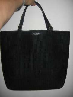 KATE SPADE LARGE BLACK HANDBAG SHOPPING TOTE LIGHT WEIGHT