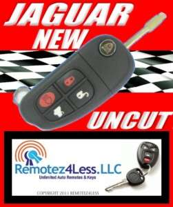 NEW JAGUAR 2002 2006 FLIP KEY KEYLESS REMOTE KEY UNCUT
