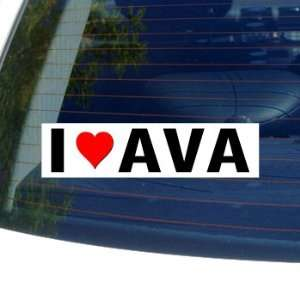 I Love Heart AVA   Window Bumper Sticker Automotive