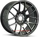 Flat Gun Metal Staggered Rims Wheels 5x114.3 Lexus IS350 SC300 Stance
