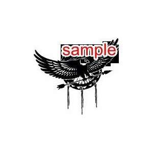 RANDOM EAGLE BIRD WITH ARROWS 10 WHITE VINYL DECAL