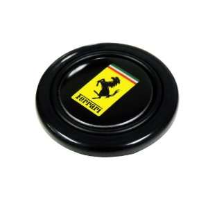 Ferrari Steering Wheel Horn Button with Black Horse Hood