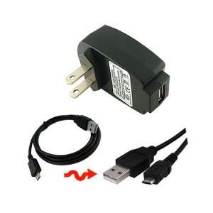 Charger 1000maH+Black Micro USB Data Cable Straight for Apple Ipod