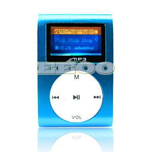 USB Flash Disk 4GB Mini Clip Gift  Music Player LCD Screen Display