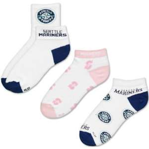 Seattle Mariners Womens 3 Pair Sock Pack Sports