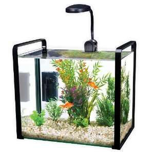 Parallel 11 Gallon Desktop Aquarium Kit Black Pet
