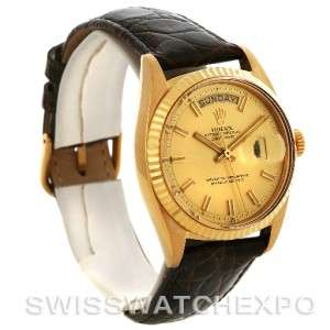 Rolex President Vintage 18k Yellow Gold Watch 1803 Year 1969