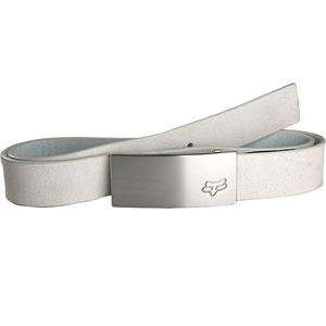 Fox Racing Etched Leather Belt   40 42/White Automotive