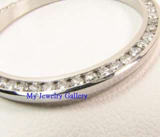 18K SOLID WHITE GOLD CHANNEL SET DIAMOND BEZEL FOR LADIES ROLEX