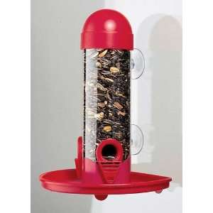 Opus Window Tube Bird Feeder 8in.