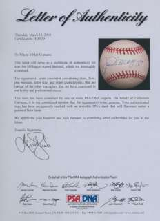 JOE DiMAGGIO SIGNED AUTOGRAPHED PSA DNA BASEBALL YANKEES AUTO 8629