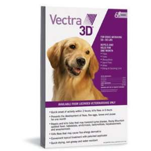 Vectra 3D Flea Tick Mosquito Topical Treatment, Dogs 56 95