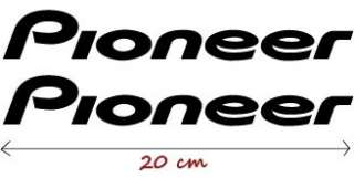 2X Racing Tuning AUFKLEBER ~ PIONEER Decal Sticker