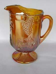 Indiana Harvestgold Marigold Carnival Glass Pitcher