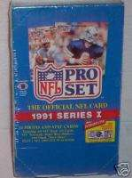 1991 PRO NFL FOOTBALL SERIES PREMIER EDITION SEALED BOX