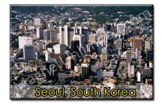Downtown Seoul South Korea Souvenir Fridge Magnet #2