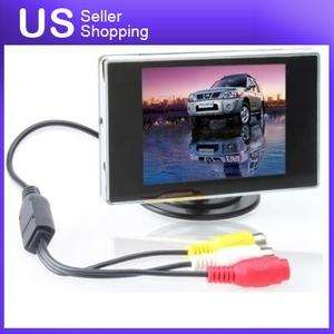 TFT LCD Car Headrest Monitor Color Camera RearView Reverse