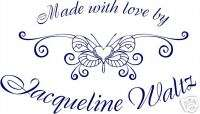 UNMOUNTED PERSONALIZED MADE WITH LOVE BY RUBBER STAMPS