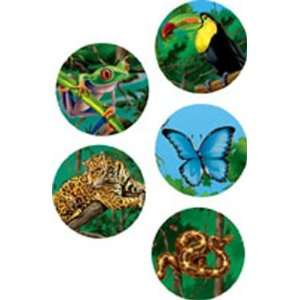 CREATIVE TEACHING PRESS RAIN FOREST ANIMALS STICKERS