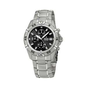 Silver Stainless Steel Quartz Watch with Black Dial Festina Watches