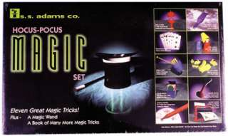 great magic tricks, plus a magic wand, and a book of many more tricks