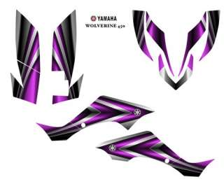 YAMAHA Wolverine 450 ATV Graphic Decal Sticker Kit #2222PINK
