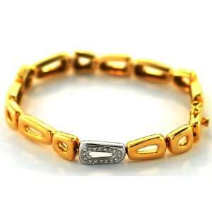 Antonini 18kt Two Tone Gold Diamond Bracelet (.18 ct. tw
