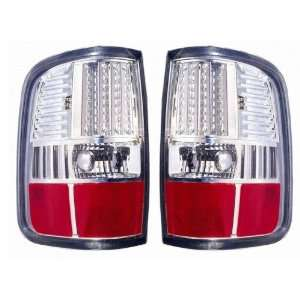 2004 2008 Ford F150 Tail Lights (LED Chrome) 1 Pair(Driver