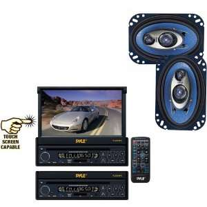 Single DIN In Dash Motorized Touch Screen TFT/LCD Monitor w/ DVD
