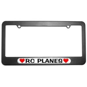 RC Planes Love with Hearts License Plate Tag Frame