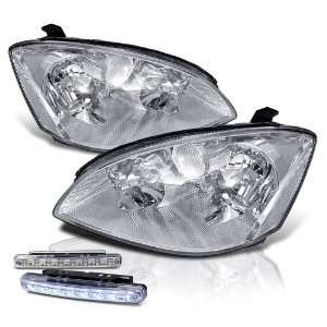 Altima Chrome Head Lights + LED Bumper Fog Lamps New Set Automotive