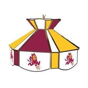 State ASU Sun Devils Stained Glass Billiard/Pool Table Swag Light/Lamp