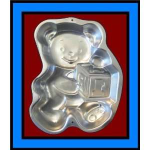 Wilton Cake Pan Teddy Bear with Block Baby Shower Mold