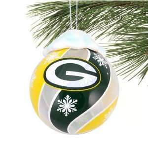 GREEN BAY PACKERS Light Up Holiday Ball CHRISTMAS ORNAMENT
