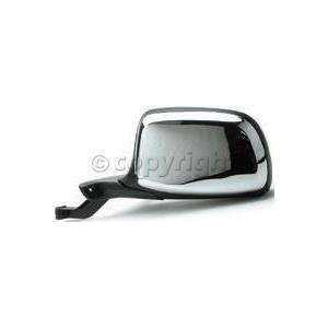 Door Mirror, Manual, Paddle Design, Chrome/Black, Drivers Side