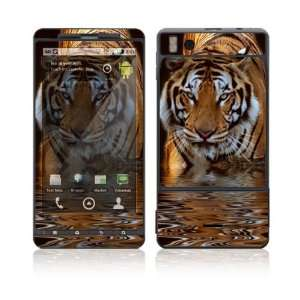 Motorola Droid X Skin Decal Sticker   Fearless Tiger