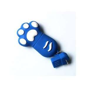 8GB Cat Paw USB Flash Memory Drive Red