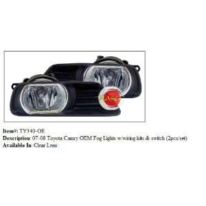 09 Toyota Camry OEM Fog Lights with Wiring Kit and Switch Automotive