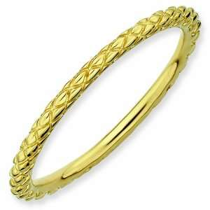 Gold Plated Criss Cross Ring, Size 8 Stackable Expressions Jewelry