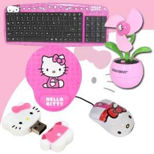Hello Kitty USB Desktop Fan (Pink) #81109 FUS DavisMAX Bundle