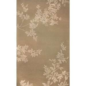 Indoor/Outdoor Hand Tufted Area Rug Shadow Vine 8 Round Putty Carpet