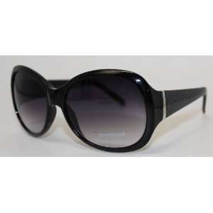Kenneth Cole Reaction Sunglass Solid Black / Shiny Silver / Smoke