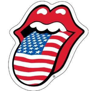 Rolling Stones   USA Tongue Sticker
