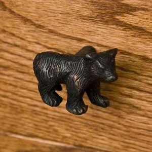 Solid Brass Bear Cabinet Knob   Oil Rubbed Bronze