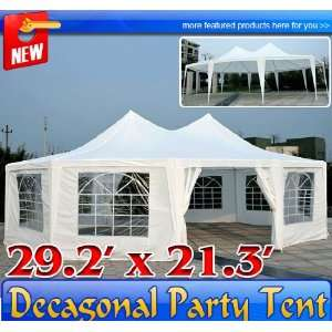 com Frugah Extra Large Heavy Duty Decagonal Wedding Party Canopy Tent