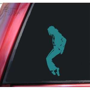 Michael Jackson Silhouette Vinyl Decal Sticker   Teal