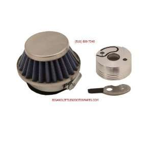 Go Ped Racing High Flow Performance Air Filter Kit With Adapter Choke